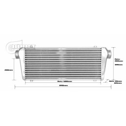 Echangeur Intercooler 700x300x100mm – Ø76mm